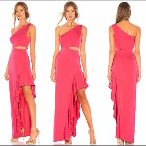 NBD x Revolve Cressida gown in hot pink